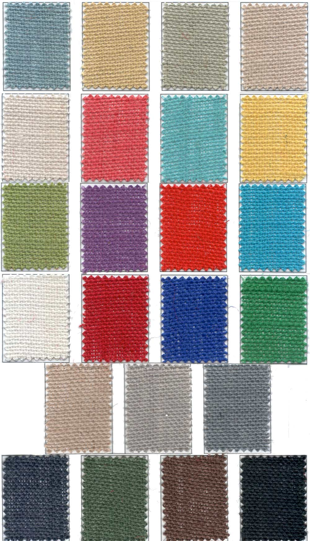 Colored Burlap