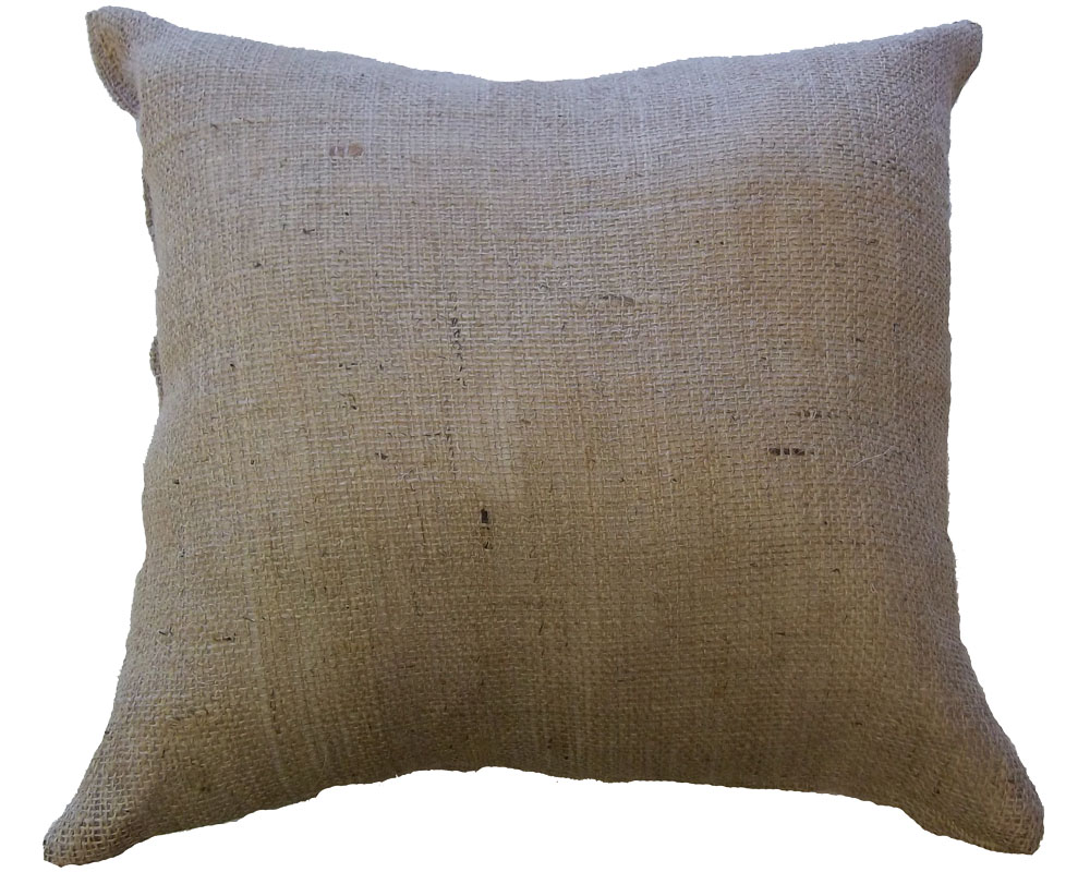 "Burlap Cushion 16"" x 16"""