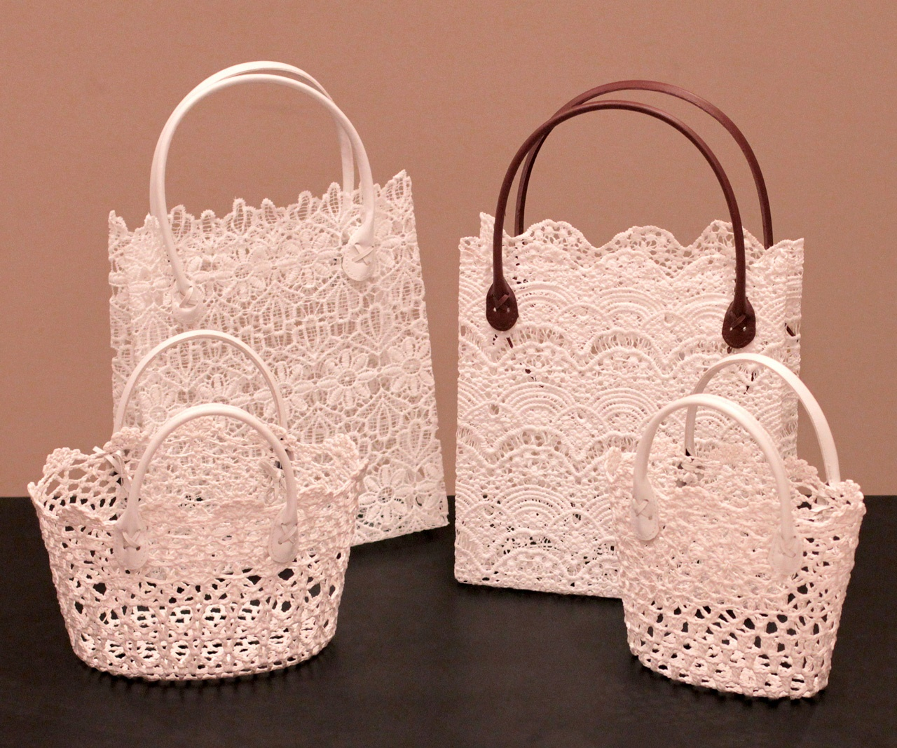 Embroidery Lace Tote Bags