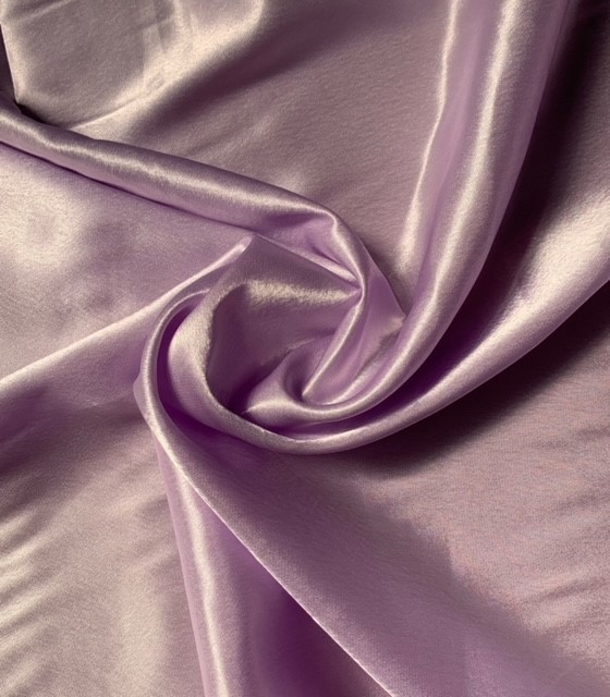 "Lilac Crepe Fabric - 60"" By the yard (100% Polyester)"