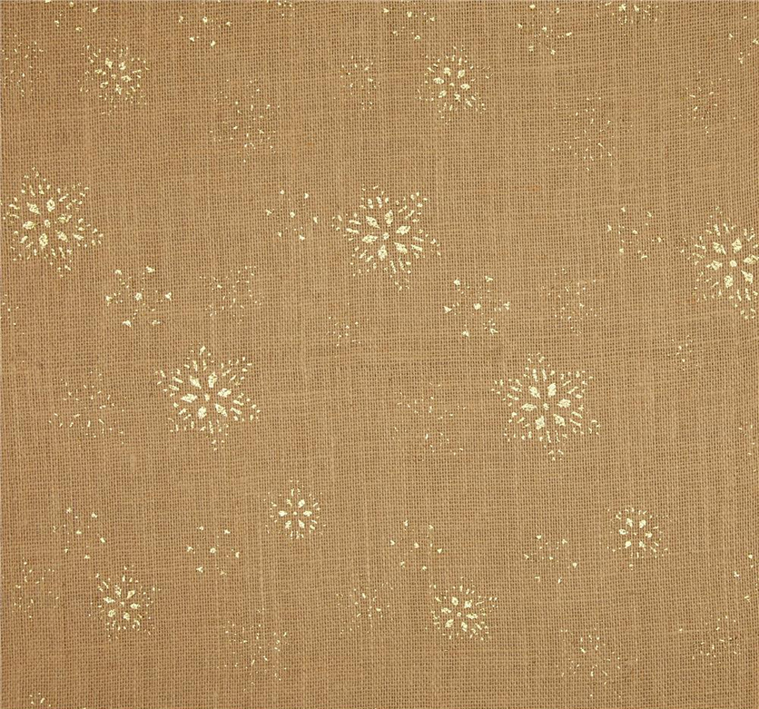 "Natural SnowFlake Glitter Burlap 60"" wide by the Yard"