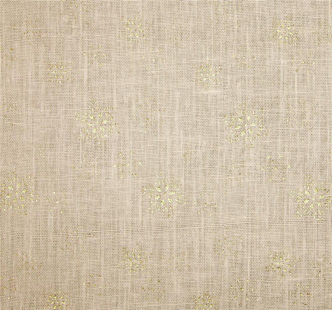 "Oyster SnowFlake Glitter Burlap 60"" wide by the Yard"